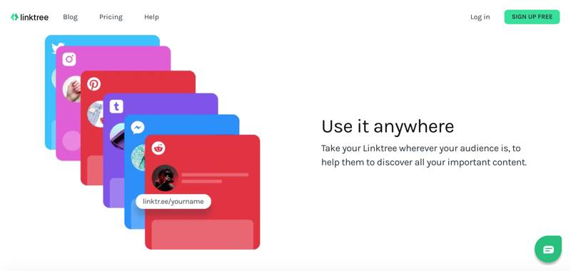 Linktree は、オンラインアイデンティティを管理できるシンプルなプラットフォーム